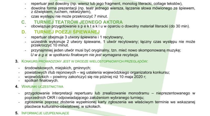 65 Ogólnopolski Konkurs Recytatorski