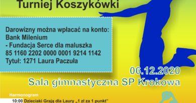 """Koszykówka – Turniej Charytatywny """"Gramy Dla LAURY"""""""