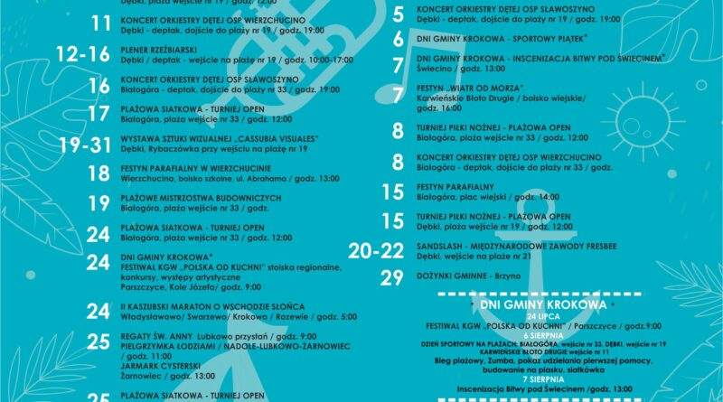 Kalendarz imprez 2021 w Gminie Krokowa